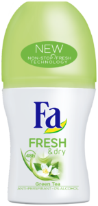 Fa FRESH & Dry zeleny caj roll-on