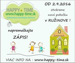 Happy Time – SB – 22.6.2016 – 31.8.2016
