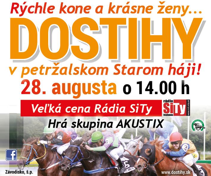 Dostihy – SB,PSB – 24.8. – 28.8.2016