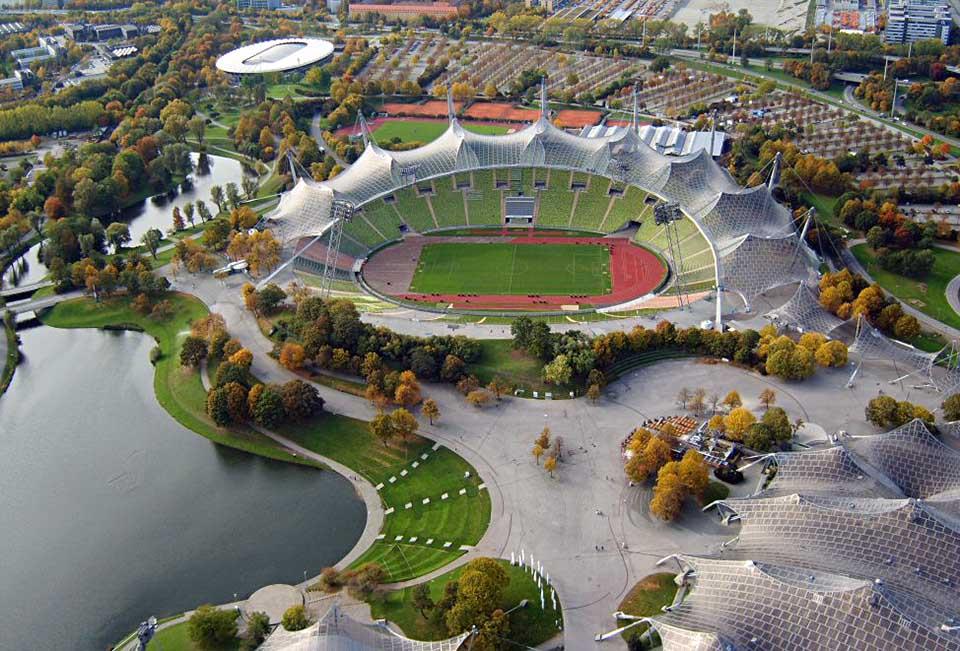 Olympijský štadión v Mníchove (Nemecko)