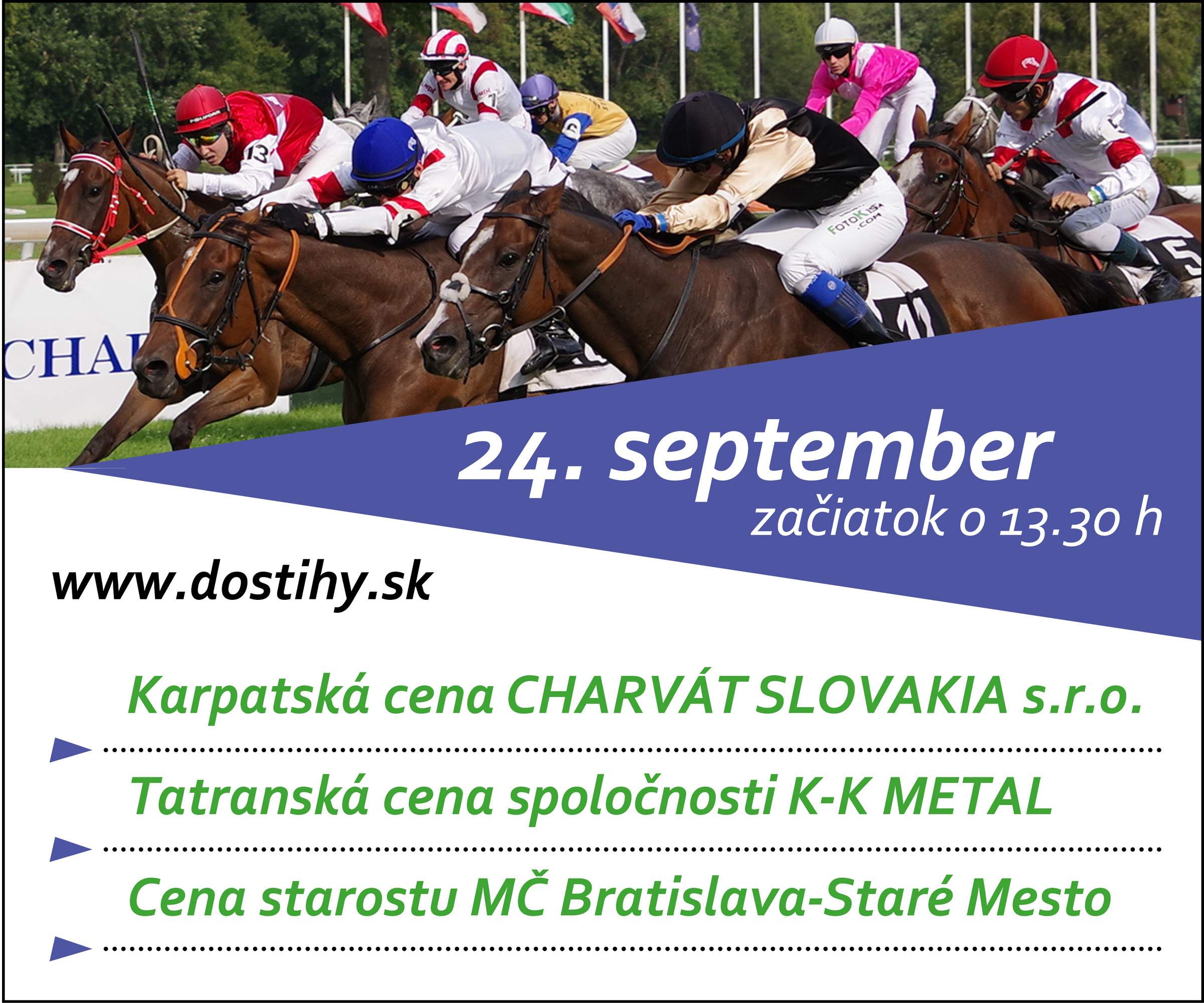 SB, PSB – Dostihy – 21.09 – 24.09.2017