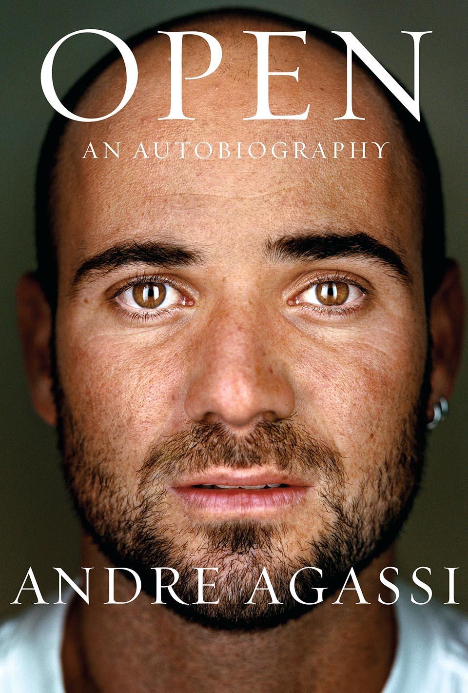 """americký tenista Andre Agassi na titulnej strane škandalóznej autobiografie """"Open""""."""