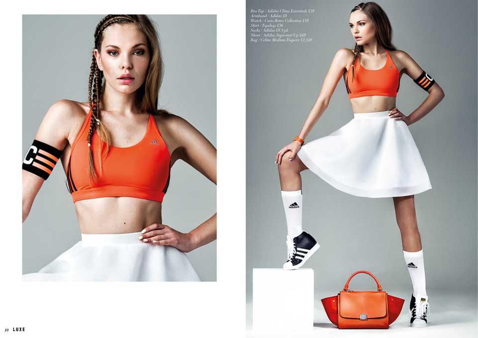 Adidas: Sports Luxe Editorial by Jay Mawson