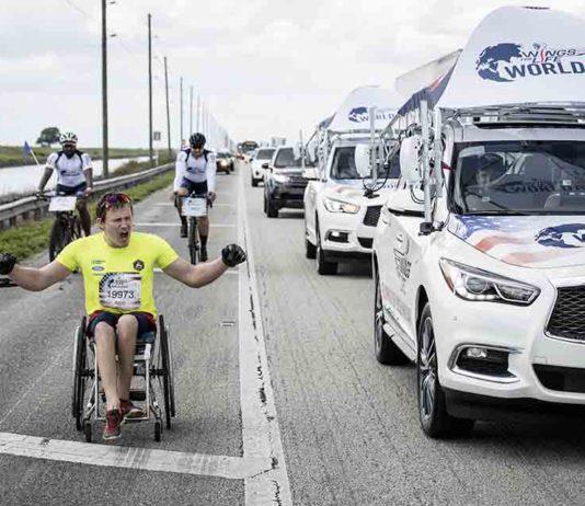 Wings for life world run vyhral aj tento rok švédsky vozičkár