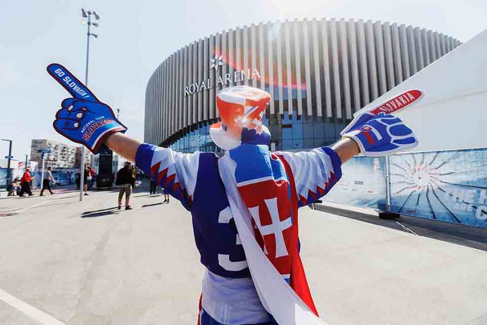 Slovenský fanúšik v Dánsku nesklamal