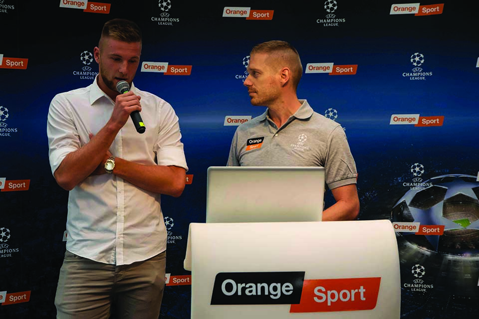orange sport a Milan Škriniar