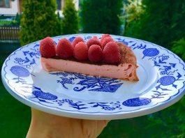 Osviežujúci a jednoduchý tvarohovo-malinový koláčik - recept