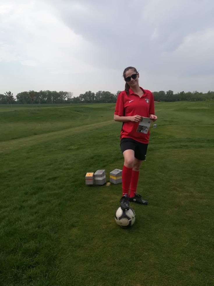Janka Rácová - footgolf