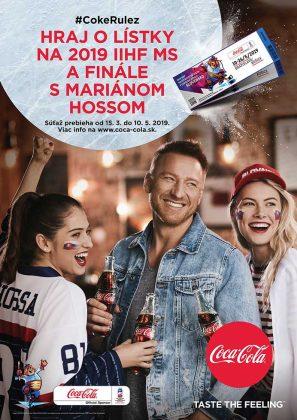 vizuál hokejovej kampane Coca-Cola